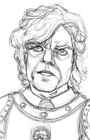 Sketch - Tyrion Lannister by indigowarrior