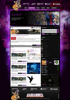 eSport Layout 7 Screendesign by SEBEKK