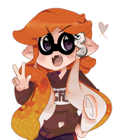 Salmon Inkling Commission by HikariSweets