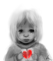 girl with broken heart by chaosLT