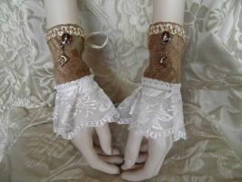 Steampunk-Victorian cuffs PCCC21 by JanuaryGuest