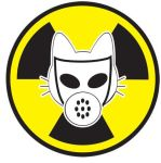 Radioactive kitty waste by PSPVinylSigns