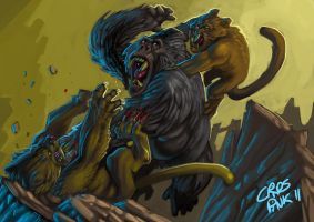 KONG V KITTAHS by MightyMoose