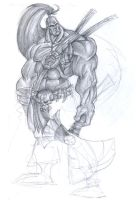 Unfinished Barbarian by hangemhigh13