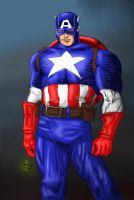Colored Cap America by Contey by The-Great-Shiniku