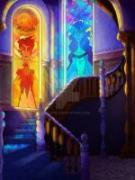West stairway by Cryej