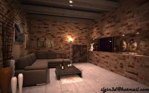 living room . by akcalar