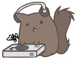 DJ Squirrel for Father's Day by HeavenlySatanic