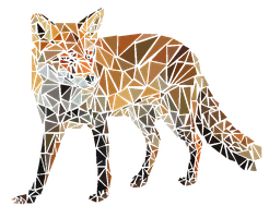 fox made of triangles by Iighters