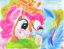 PinkieDash: Hearts 'n Hooves Day by kittyhawk-contrail