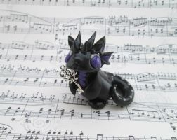 Black and Purple Key Keeper Dragon by KriannaCrafts