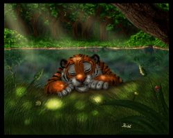 The Tiger's Sanctuary by fuzzypinkmonster