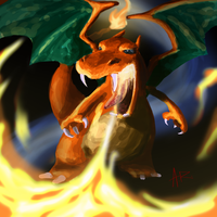 Weird Charizard Sketch of Weirdness by ComicMasterX