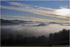 Fog at sunset by brijome