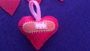 My felt works - badaged heart by EvaHuynh