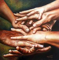 Better together - oils by SamanthaJordaan
