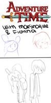 Adventure Time with Marshall lee and Fionna by Ilovecupcakesomuch