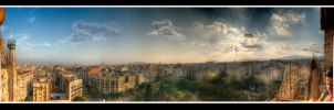HDR Barcelona Widepanorama by Squadz2000