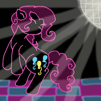 Pinkie In The Club by PoniesPunch