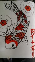 Chinese koi fish tattoo inking by theHipHoper