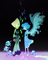 Peridot and Lapis Lazuli by sparrowbirdd