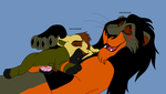 Chaos and Havik resting lions gift pic for Kiryu by Natalia-Clark