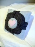 Companion Cube Pillow by CynicalSniper