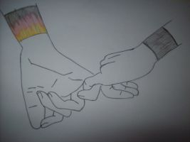 My hand and yours by spirtofthedevil