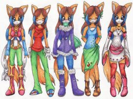Offical Outfits for Sanyo by Rainbow-Ribbon