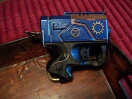 Blue steam punk right side by Frost-Claw-Studios