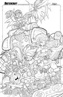 Chrono Trigger Line Art by RobDuenas