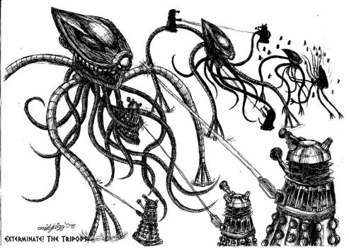 Exterminate the Tripods- Print by DalekMercy