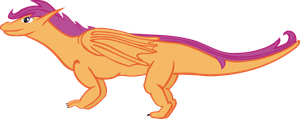 Scootaloo Dragon Crossover by TheUnknownety
