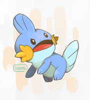 Trainer threw rocks at the MUDKIP by hamaryuu