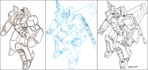 Commission: Starscream WIP by FoxxFireArt