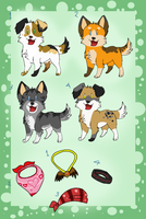 adoptables nature pups by zcherozrodesidz