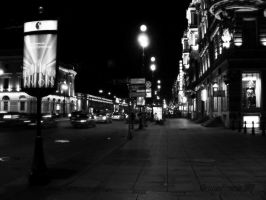 St.-Petersburg at night in BW by Christina-Frenesia