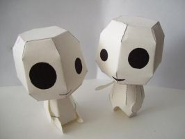 Papercraft: Kodamas by Bahamut-Eternal