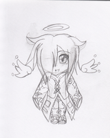 Sketch: Chibi Angelus by BlueRoseAngel15
