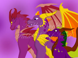 Purple dragons by FableworldNA