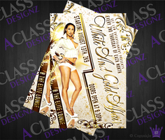 White and Gold Affair_Flyer by aCLASSdesignz