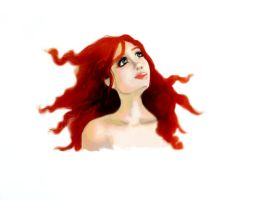 Red Hair by mzelBulle