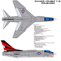 Vought F-8 Crusader by bagera3005