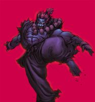 Akuma colored by shalomone