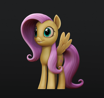 Fluttershy 3D model by cuberon