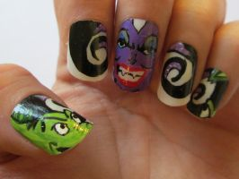 Ursula nail art by henzy89