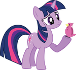 Twilight questions a bird [Vectored] by PixelPinkie