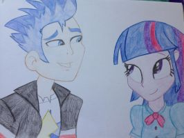 Flash Sentry  Twilight Sparkle pencil drawing  by Magdahorses