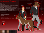 Alexandros Dekaria Ref Sheet *OUTDATED* by ThatDarkWolfy