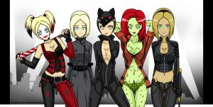Arkham City girls by Sleepless-Piro